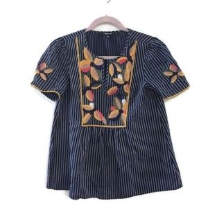 MADEWELL Embroidered Fable top-navy; STYLE: H7398.